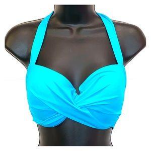 Marie Meili Blue Bikini Top